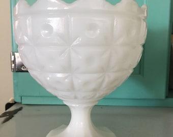 Large White Milk Glass Vase or Dish