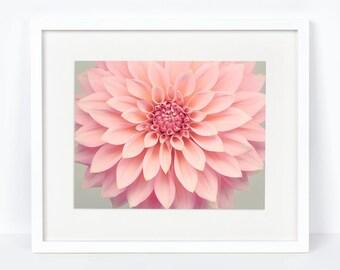 Dahlia Decor, Boho Floral Nursery Decor, Botanical Print, Floral Decor, Dahlia Art, Home Decor, Living Room Artwork, Large Wall Art