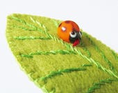 LUCY - Felt Ladybird Brooch - Ladybug - Accessory - Pin - Wildlife And Countryside Lover