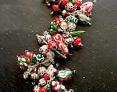 Urlaub Weihnachten Sterling Charm Armband mit Handwerker-Lampwork