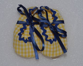 Yellow and Blue Baby shoes