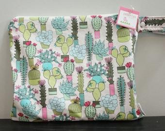 Wet Bag wetbag Diaper Bag ICKY Bag wet proof succulents cactus gym bag swim cloth diaper zipper gift newborn baby child kids summer beach