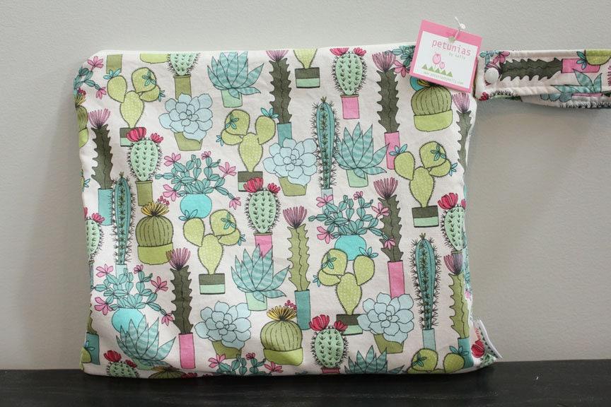Wet Bag Wetbag Diaper ICKY Proof Succulents Cactus Gym Swim Cloth Zipper Gift Newborn Baby Child Kids Summer Beach