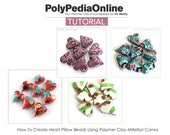 Polymer Clay Tutorial, Polymer Clay Beads, Fimo Jewelry, DIY Handmade Beads, Millefiori Polymer Clay Canes, Heart Beads, Puffy Pillow Beads