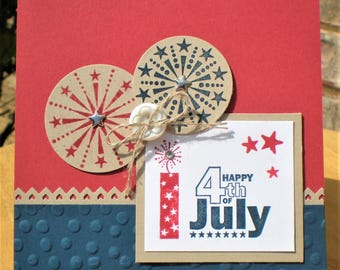 Happy 4th of July Greeting Card with Fireworks