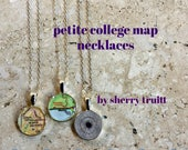 College Map Necklace Petite Graduation Gift