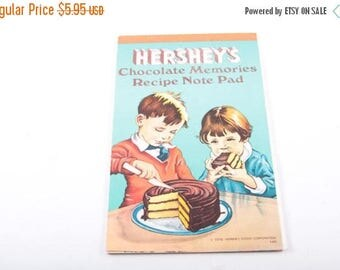 Hershey's, Chocolate, Recipes, Books, Vintage, Kitchen, Note Pad, Retro, Cute ~ The Pink Room ~ 161110B