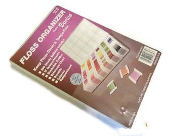 Darice Floss Organizer With Bobbins | Plastic Thread Storage Box