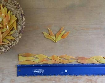 Orange and Yellow Glass Shards for Mosaic Art Designing