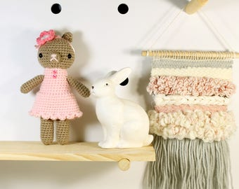 karen .. amigurumi stuffed plush toy, teddy bear, amigurumi crochet animal plushie, cute girl doll