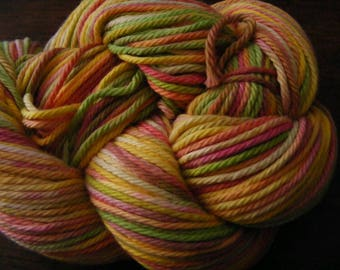 Handpainted Turkish Cotton Yarn 180yds 3.5 oz Worsted Weight Hand Painted Aspenmoonarts C047 knitting weaving