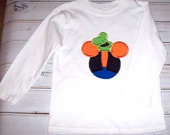 Sample SALE Boys Goofy Mickey Shape Applique L/S Shirt Size 3T--Vacation--Mickey Mouse--Birthday