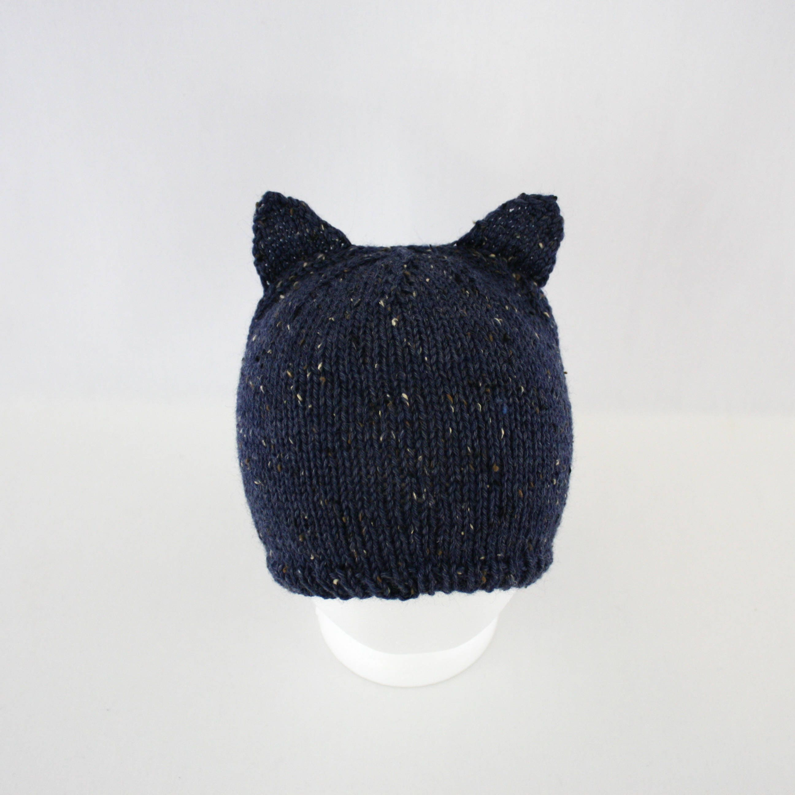 Millicent Hat knitting PATTERN - worsted knit kitty cat ears cosplay ...