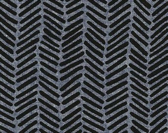 Erin Dollar for Robert Kaufman FABRIC - Arroyo - Chevron Brush Essex in Steel