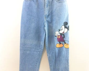 Vintage High Waisted Mickey Mouse Jeans