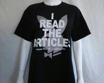 Closing Shop 40%off SALE PLAYBOY  Magazine t shirt, 90s Vintage Playboy t shirt