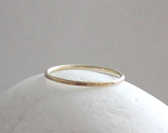 Line Hammered Gold Ring, Birch Bark Ring Lined Ring, 14K Gold Ring, Solid Gold Ring, 14K Gold Band, Gold Wedding Ring, Solid Gold Thumb Ring
