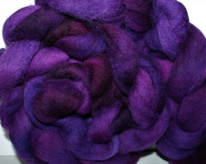 Kettle Dyed Cheviot Wool Top.  Easy to spin.  Great for felting. 1lb. Braid. Spin. Felt. Roving. C109