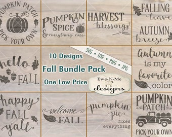 Fall svg bundle - Happy Fall Yall svg - hello fall svg - autumn svg bundle - fall svg bundle - Commercial use svg, dxf, png and jpg