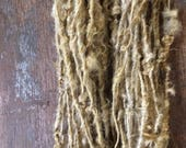 Onion Skin, naturally dyed Lincoln wool locks yarn, 24 yards, bulky chunky curly handspun rustic