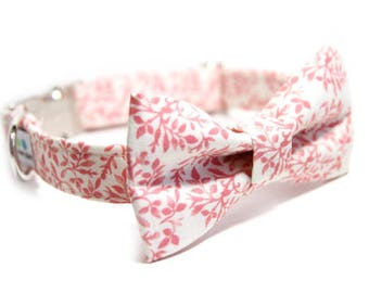 Floral Bow Tie Collar, Doggy BowTie Collar, Personalied option -Whispering Floral