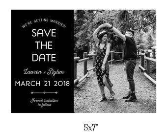 Custom 5x7 Save The Date Printable Postcard