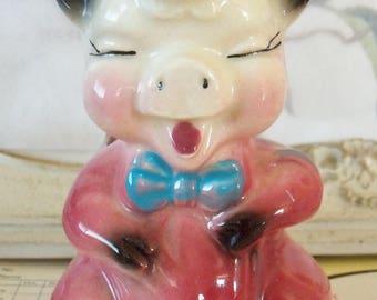Vintage / Pig Planter / Ceramic