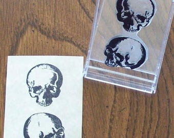 Xmas in July Anatomical Skulls Human Anatomy Medical Illustration Rubber Stamp 068