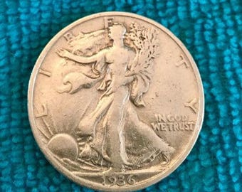 1936 S Half Dollar Ext Fine Brights  SILVER STANDING LIBERTY Coins  Harder to find - Free Usa Shipping