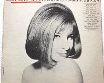 Barbra Streisand Vintage 1960s Vinyl LP Stereo Record Albums The Second Album 1963  Pop Music