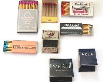 Vintage 1980s Matchbooks Matchboxes New York City Nightclubs AREA, The Limelight & Restaurants Collectible Dance Club Tobacciana Memorabilia