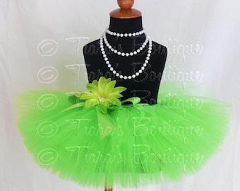 """SUMMER SALE 20% OFF Girls Tutu Skirt - Lime Green Tutu - Birthday Tutu - Lyrical Lime - Custom Sewn 8"""" Tutu - sizes Newborn to 5T"""