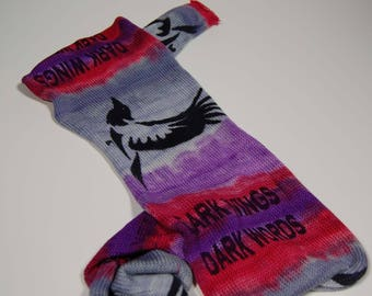 "Game of Thrones Inspired Sock Blank ""Dark Wings Dark Words"" **Single Sock blank**DYED TO ORDER"
