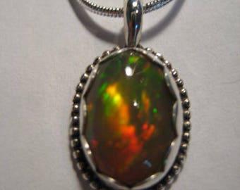 Beautiful Opal  pendant ........... Sterling Silver ........            A36