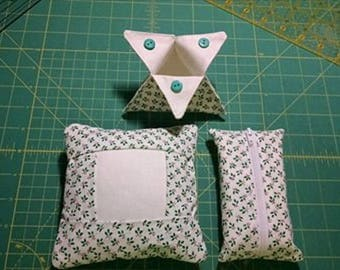 Special sale.  3 piece set.  Tuck Pillow, Ort Catch-all, tissue case with tissues included