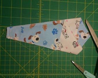 New item by Trulyn2stitching Designs. Trifold scissor keeper. Dog prints