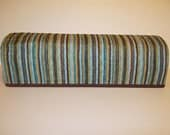 Cricut Dust Cover / Scan-n-Cut Cover / Design n Cut DC200 / Cricut Machine Cutter Protector / Green / Teal / Brown Stripe With Gold Accents