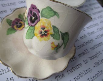 3 very vintage demitasse cups, one without saucer.  Early 1900s