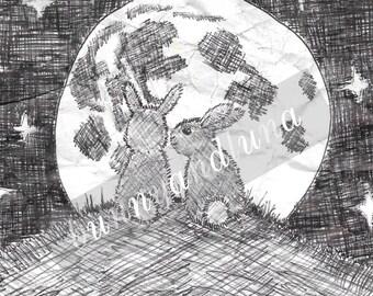 Bunny & Luna - 4x6 Print