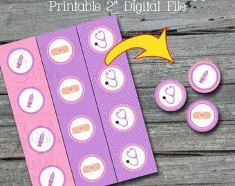 "Doc  Cupcake Toppers | Doc Printable 2"" circles 