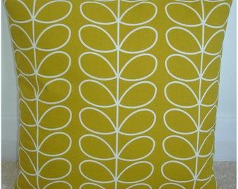 "16x16 Pillow Cover Orla Kiely Linear Stem Leaves Dandelion 16"" Accent Decorative Throw Cushion Case Sham Slip Retro Ochre Vintage Leaf Look"
