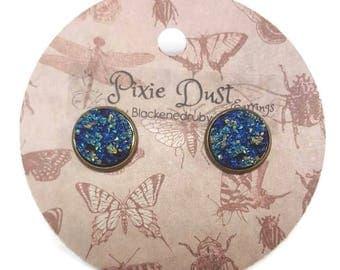 Navy Sparkle - Pixie Dust stud Earrings