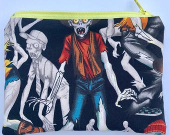 Zombies Zipper Pouch: Zombies Are People Too
