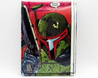 Sewn Comic Book Wallet - Star Wars Wallet - Boba Fett Wallet,