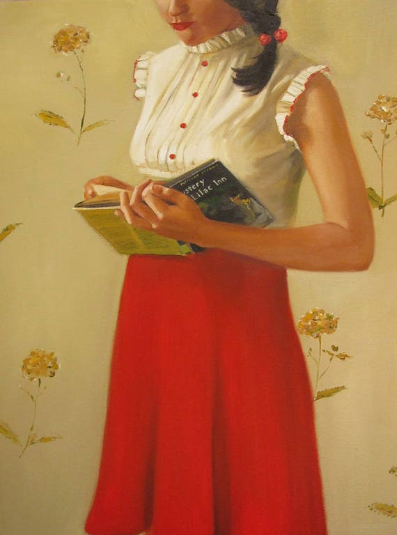 A Mystery Lady. Art Print