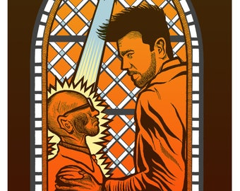 Limited Edition PREACHER Screen Printed art print poster by Brian Methe
