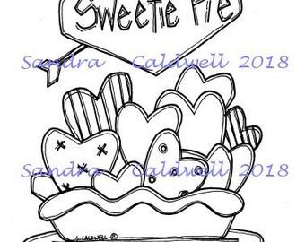 2051 Valentine Sweetie Pie Digi Stamp
