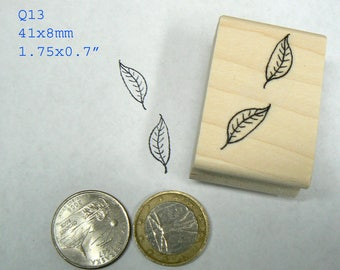 Q13  Tiny leaves rubber stamp