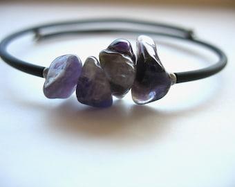 Amethyst Bracelet, Amethyst Stone Cuff Bracelet, Amethyst, Handmade Artisan Amethyst Jewelry, Purple Stone, Gemstone Jewelry