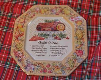 Avon Recipe Plate Hospitality Sweets Recipe Plate Buche De Noel